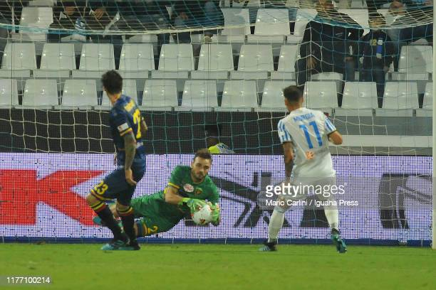 Gabriel Ferreira goalkeeper of US Leccce in action during the Serie A match between SPAL and US Lecce at Stadio Paolo Mazza on September 25 2019 in...