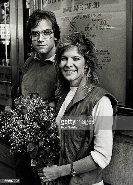 Gabriel Ferrer and Debby Boone attend practice for Seven Bridges for Seven Brothers on June 21 1982 at the Alvin Theater in New York City