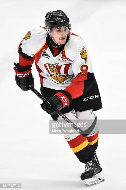 Gabriel Fortier of the BaieComeau Drakkar skates against the BlainvilleBoisbriand Armada during the QMJHL game at Centre d'Excellence Sports Rousseau...