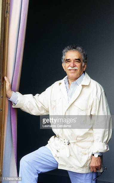 Gabriel Garcia Marquez Nobel Prize novelist portrait writer Mantova Italy 7th September 2009