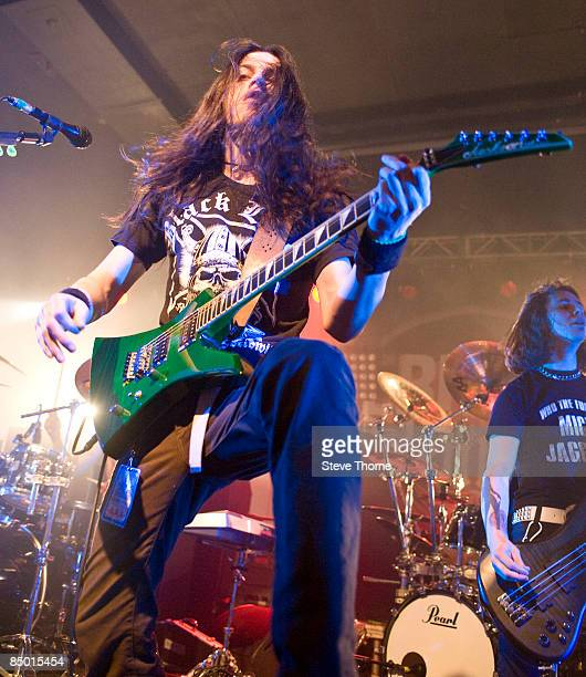 Gabriel Garcia of Black Tide performs on stage at the O2 Academy on January 29, 2009 in Birmingham, England.