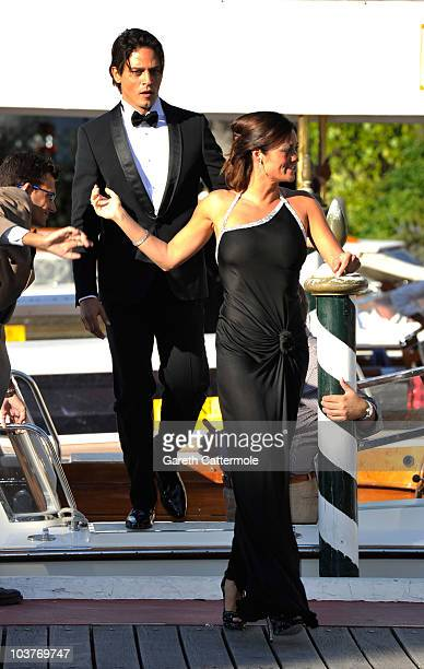 Gabriel Garko and Manuela Arcuri sighting during the 67th Venice Film Festival on September 1 2010 in Venice Italy
