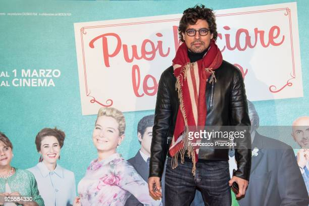Gabriel Garko attends a photocall for 'Puoi Baciare Lo Sposo' on February 28 2018 in Milan Italy