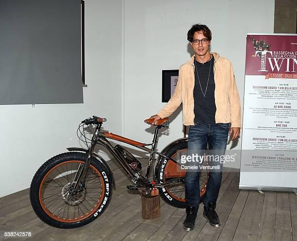 Gabriel Garko attends Matchless E Bike Presentation on June 5 2016 at Casone Ugolino in Castagneto Carducci near Livorno Italy