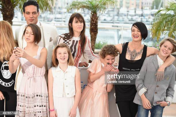 Gabriel Garko Charlotte Gainsbourg Alice Pea Giulia Salerno Director Asia Argento and Andrea Pittorino attends the 'Incompresa' photocall during the...