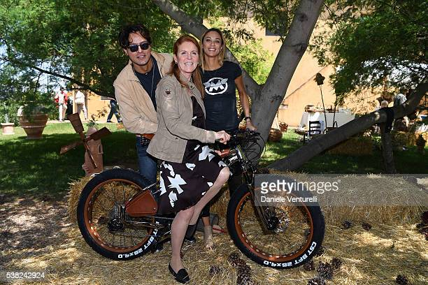 Gabriel Garko Sarah Ferguson Duchess of York and Lilly Becker attends Matchless E Bike Presentation on June 5 2016 at Casone Ugolino in Castagneto...