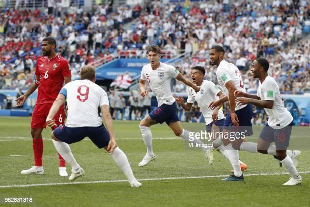Gabriel Gomez of Panama Harry Kane of England John Stones of England Jesse Lingard of England Ruben LoftusCheek of England Raheem Sterling of England...