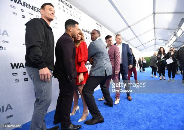 Gabriel Hogan Eugene Cordero Hassie Harrison Marcus Henderson and Steve Lemme of truTV's Tacoma FD attend the WarnerMedia Upfront 2019 arrivals on...