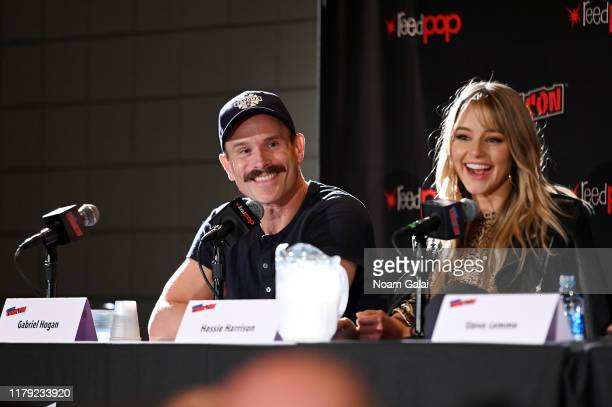 Gabriel Hogan speaks onstage at the Tacoma FD panel during New York Comic Con 2019 at Jacob Javits Center on October 05 2019 in New York City