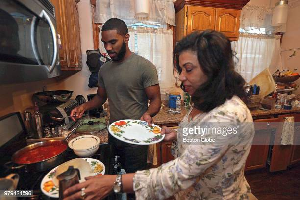 Gabriel Howson a recent college graduate is pictured with his mother Monica BeatoHowson at her home in the Dorchester neighborhood of Boston on May...