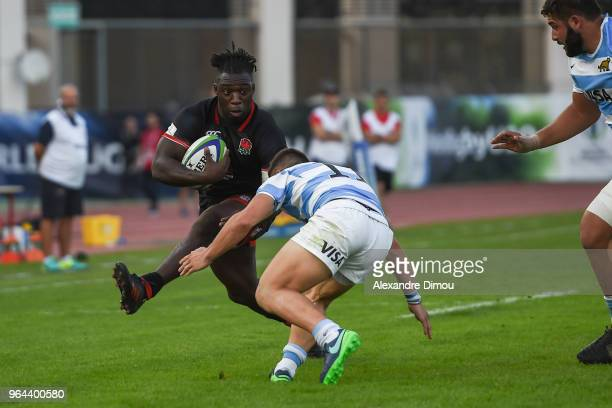 Gabriel Ibitoye of England during the World Championship U 20 match between England and Argentina on May 30 2018 in Narbonne France