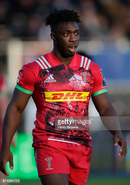 Gabriel Ibitoye of Harlequins during the AngloWelsh Cup round one match between Saracens and Harlequins at Allianz Park on November 5 2017 in Barnet...