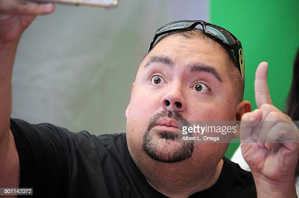 Gabriel Iglesias attends RCA hosts Gabriel Iglesias for Made For Moments Holiday Campaign held at Glendale Galleria on December 12 2015 in Glendale...