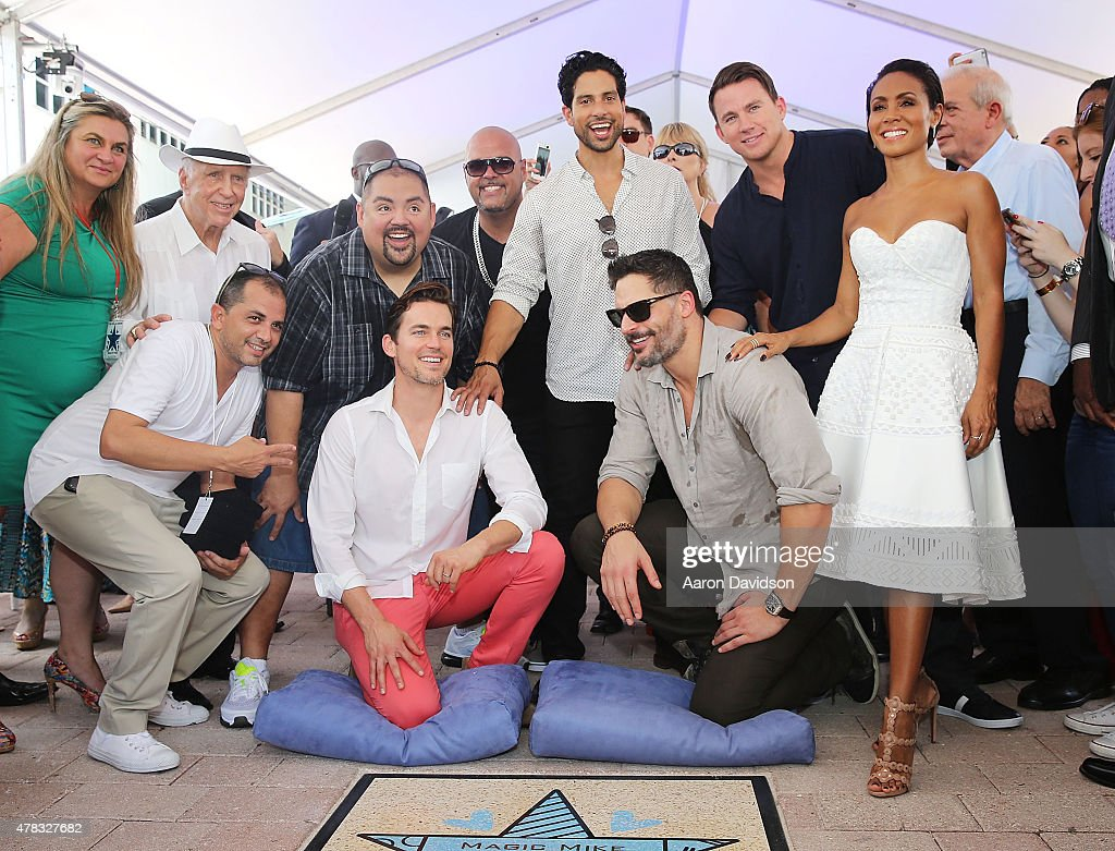 Gabriel Iglesias;ÊAdam Rodrguez;ÊChanning Tatum;ÊJada Pinkett Smith;ÊÊÊJoe Manganiello;Ê ÊMatt BomerÊattends as the 'Magic Mike XXL' cast are honored with stars on The Official Miami Walk Of Fame at Bayside Marketplace on June 24, 2015 in Miami, Florida.