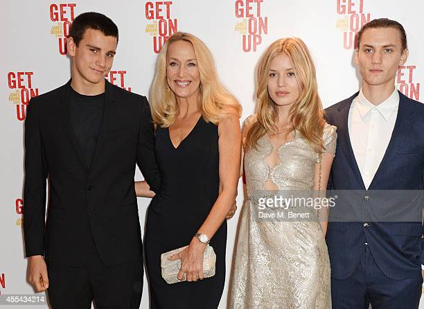 Gabriel Jagger Jerry Hall Georgia May Jagger and Josh McLellan attend a special screening of Get On Up at The Ham Yard Hotel on September 14 2014 in...