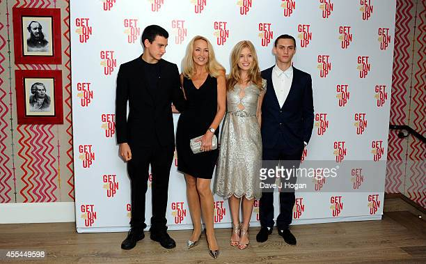 Gabriel Jagger Jerry Hall Georgia May Jagger and Josh McLellan attend a special screening of Get On Up on September 14 2014 in London England