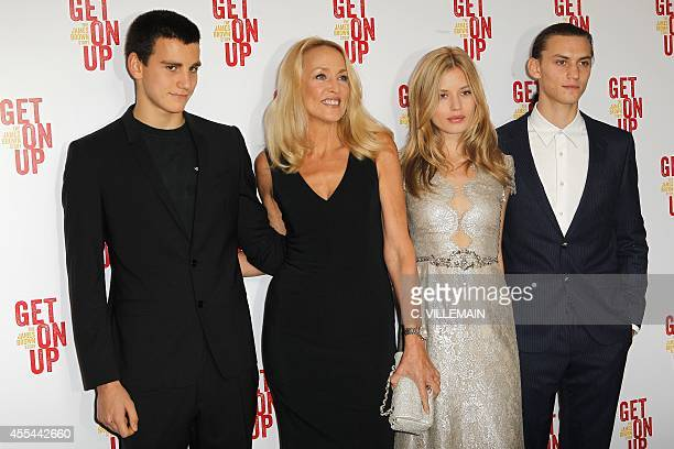 Gabriel Jagger son of US model Jerry Hall her daughter British model Georgia May Jagger and her boyfriend Josh McLellan arrive for a special...