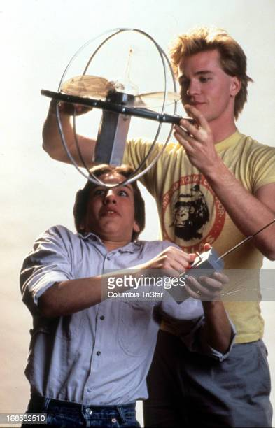 Gabriel Jarret and Val Kilmer in publicity portrait for the film 'Real Genius' 1985