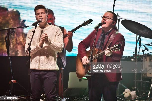 Gabriel Jerome Kelly and Angelo Kelly perform live onstage during a concert at the Tempodrom on December 15 2018 in Berlin Germany