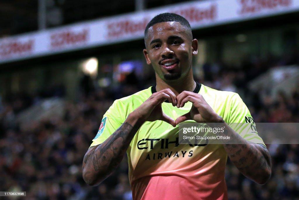 Preston North End v Manchester City - Carabao Cup Third Round : News Photo