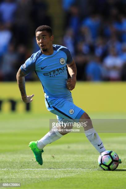 Gabriel Jesus of Manchester City in action during the Premier League match between Watford and Manchester City at Vicarage Road on May 21 2017 in...