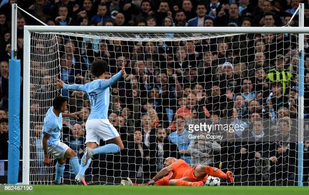Gabriel Jesus of Manchester City scores his sides second goal during the UEFA Champions League group F match between Manchester City and SSC Napoli...