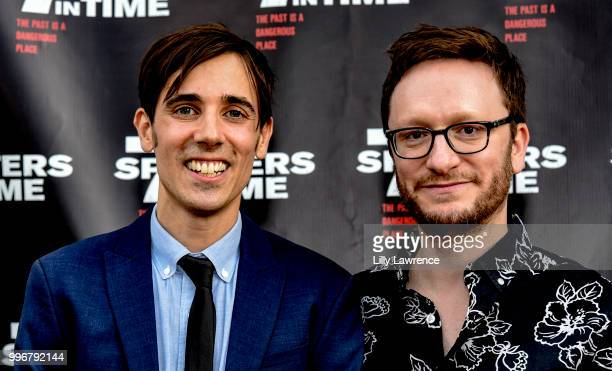 Gabriel JudetWeinshel and Akiva Schaffer arrive at the '7 Splinters In Time' Premiere at Laemmle Music Hall on July 11 2018 in Beverly Hills...