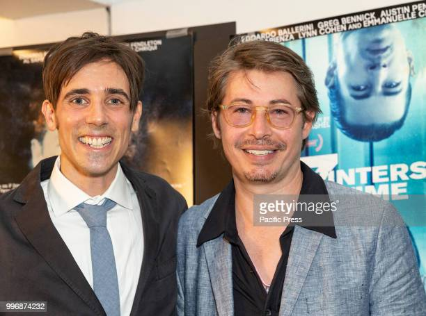 Gabriel JudetWeinshel Edoardo Ballerini attend 7 Splinters in Time New York premiere at The Anthology Film Archives