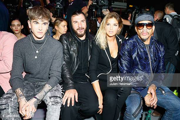 Gabriel Kane Day Lewis Michael Youn his wife Isabelle Funaro and Joey Starr attend the Etam show as part of the Paris Fashion Week Womenswear...
