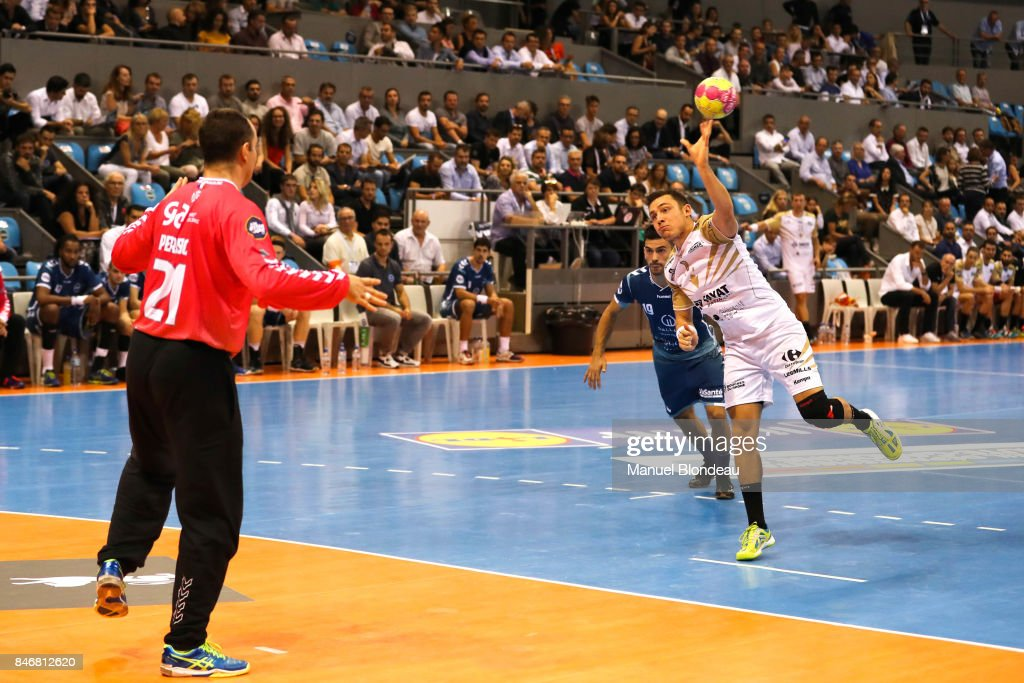 Gabriel Loesch of Aix during Lidl Star Ligue match between Fenix Toulouse and Pays D'aix Universite Club on September 13, 2017 in Toulouse, France.