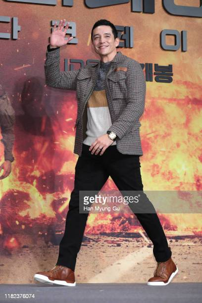 Gabriel Luna attends during a press conference for 'Terminator Dark Fate' on October 21 2019 in Seoul South Korea The film will open on October 30 in...