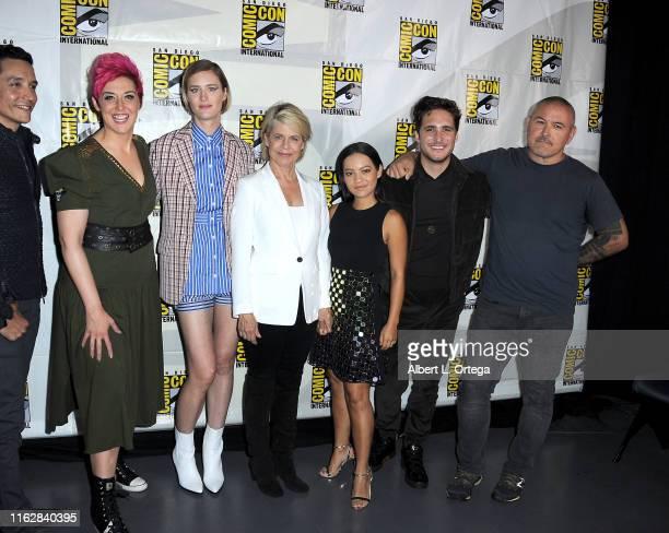Gabriel Luna Grae Drake Mackenzie Davis Arnold Schwarzenegger Linda Hamilton Natalia Reyes Diego Boneta and Tim Miller attend the Terminator Dark...