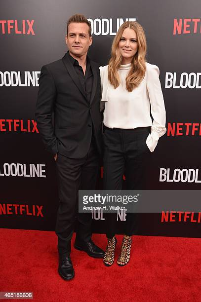 Gabriel Macht and actress Jacinda Barrett attend the Bloodline New York Series premiere at SVA Theater on March 3 2015 in New York City