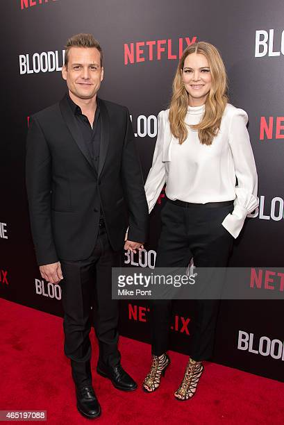 """Gabriel Macht and Actress Jacinda Barrett attend the """"Bloodline"""" New York Series Premiere at SVA Theater on March 3, 2015 in New York City."""