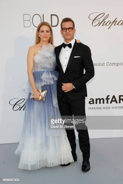 Gabriel Macht and guest arrive at the amfAR Gala Cannes 2018 at Hotel du CapEdenRoc on May 17 2018 in Cap d'Antibes France