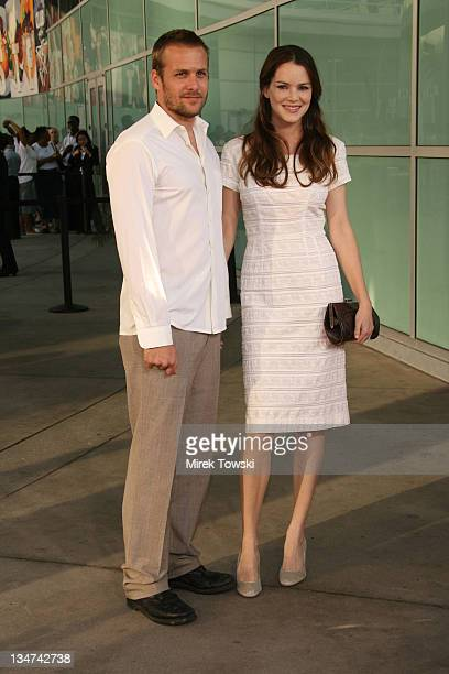 Gabriel Macht and Jacinda Barrett during The Lake House Los Angeles Premiere Arrivals at Arclight Cinerama Dome in Hollywood California United States