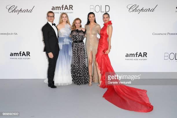 Gabriel Macht Jacinda Barrett Caroline Scheufele Adriana Lima and Petra Nemcova arrive at the amfAR Gala Cannes 2018 at Hotel du CapEdenRoc on May 17...