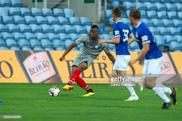 Gabriel Magalhaes of LOSC Lille during the match between Everton FC and LOSC Lille for Algarve Football Cup 2018 at Estadio do Algarve on July 21,...