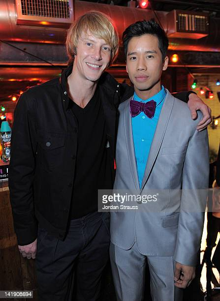 Gabriel Mann and Jared Eng attend Just Jared's 30th at Pink Taco on March 23 2012 in Los Angeles California