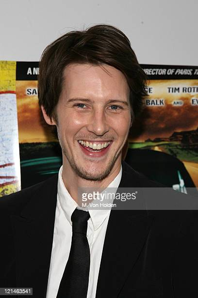 Gabriel Mann during 'Don't Come Knocking' New York Inside arrivals at DGA Theater in New York NY United States
