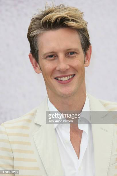 Gabriel Mann pose at a photocall during the 53rd Monte Carlo TV Festival on June 12 2013 in MonteCarlo Monaco