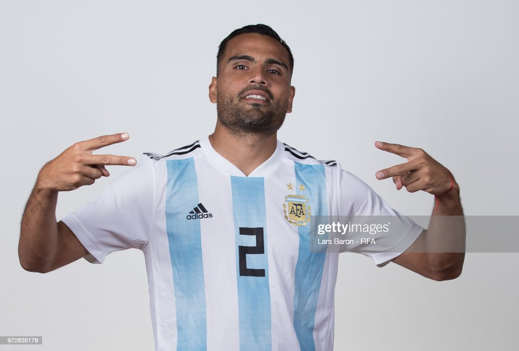 Gabriel Marcado of Argentina poses for a portrait during the official FIFA World Cup 2018 portrait session on June 12, 2018 in Moscow, Russia.