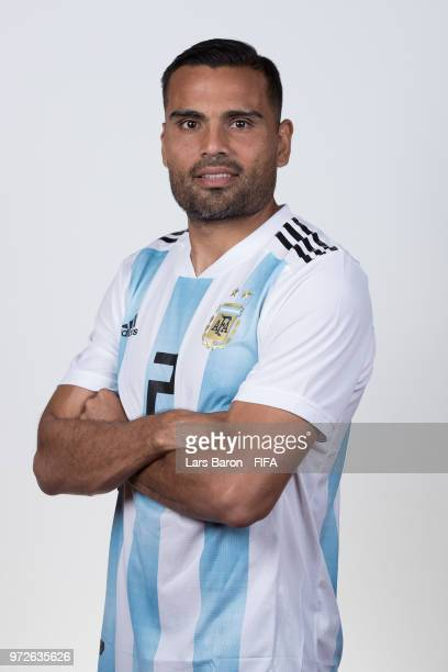 Gabriel Marcado of Argentina poses for a portrait during the official FIFA World Cup 2018 portrait session on June 12 2018 in Moscow Russia