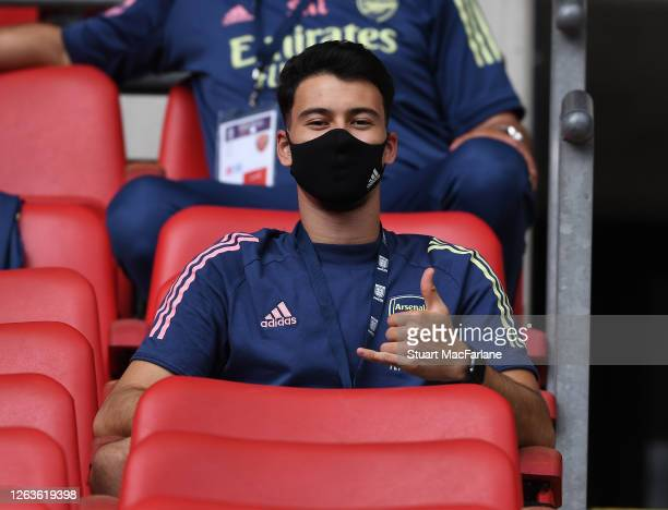 Gabriel Martinelli of Arsenal before the FA Cup Final match between Arsenal and Chelsea at Wembley Stadium on August 01 2020 in London England...