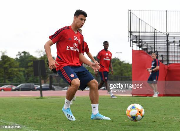 Gabriel Martinelli of Arsenal during the Arsenal Training Session at the University of Maryland on July 22 2019 in Washington DC