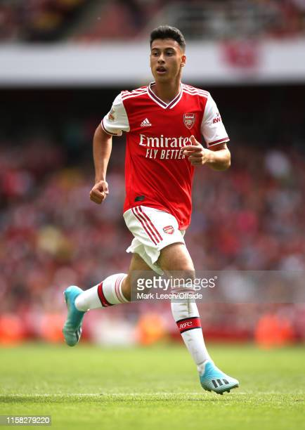 Gabriel Martinelli of Arsenal during the Emirates Cup match between Arsenal FC and Olympique Lyonnais at Emirates Stadium on July 28 2019 in London...