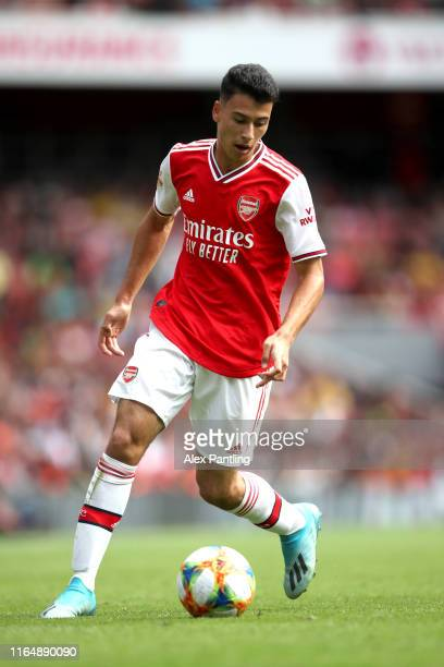 Gabriel Martinelli of Arsenal during the Emirates Cup match between Arsenal and Olympique Lyonnais at Emirates Stadium on July 28 2019 in London...