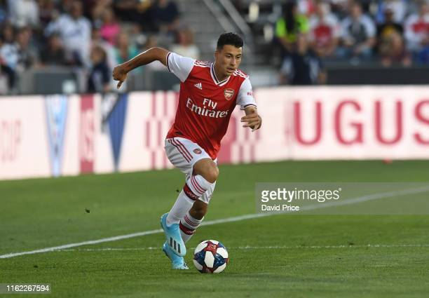 Gabriel Martinelli of Arsenal during the match between Colorado Rapids v Arsenal at Dick's Sporting Goods Park on July 15 2019 in Commerce City...