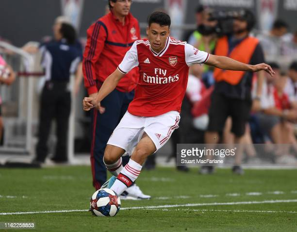 Gabriel Martinelli of Arsenal during the pre season friendly between Colorado Rapids and Arsenal at Dick's Sporting Goods Park on July 15 2019 in...