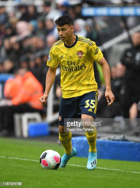 Gabriel Martinelli of Arsenal during the Premier League match between Newcastle United and Arsenal FC at St James Park on August 11 2019 in Newcastle...